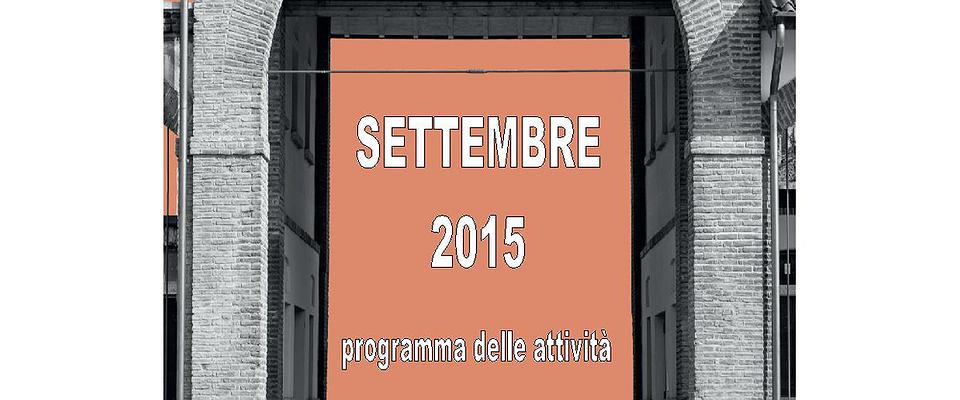 Programma delle attività di settembre 2015 presso il Museo Salterio